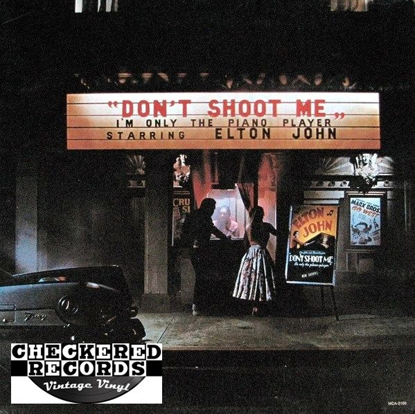 Elton John Don't Shoot Me I'm Only The Piano Player 1973 US MCA Records MCA-2100 Vintage Vinyl Record Album