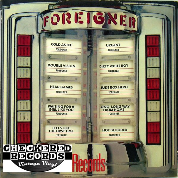 Vintage Foreigner Records Die Cut First Year Pressing 1983 Atlantic 7 80999-1 1982 Vintage Vinyl LP Record Album
