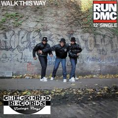 RUN DMC Walk This Way 12 Inch Single First Pressing 1986 US Profile Records ‎PRO-7112 Vintage Vinyl Record Album