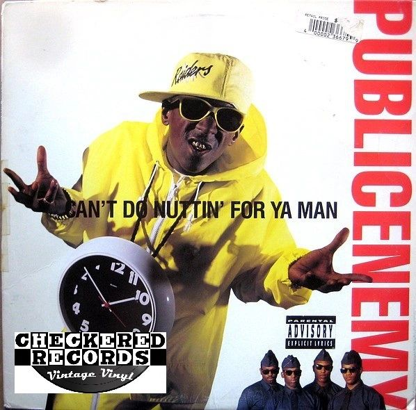 "Vintage Public Enemy Can't Do Nuttin' For Ya Man 12"" Inch First year Pressing 1990 US Def Jam Recordings Columbia 44 73612 Vintage Vinyl LP Record"