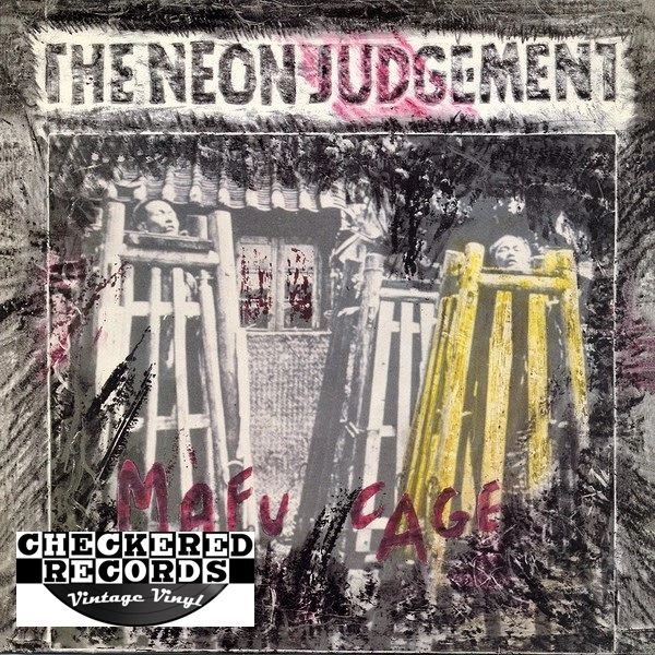The Neon Judgement Mafu Cage First Year Pressing 1986 Belgium Play It Again Sam Records ‎Bias 28 Vintage Vinyl Record Album