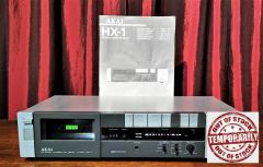 Vintage 1983 Akai HX-1 Stereo Cassette Tape Deck And Manual
