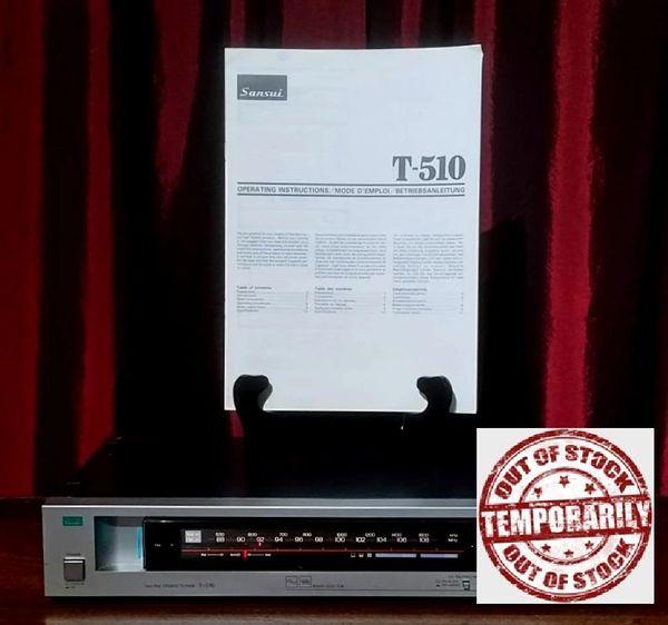 Vintage 1980s Sansui T-510 AM/FM Stereo Tuner Silver Face