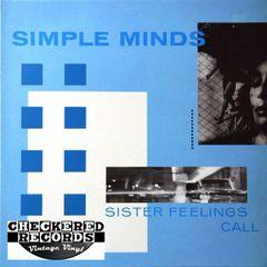 Simple Minds Sister Feelings Call First Year Pressing 1981 UK Virgin OVED 2 Vintage Vinyl Record Album