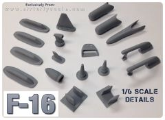 F-16 Scale Detail Parts Set - 1/6 Scale