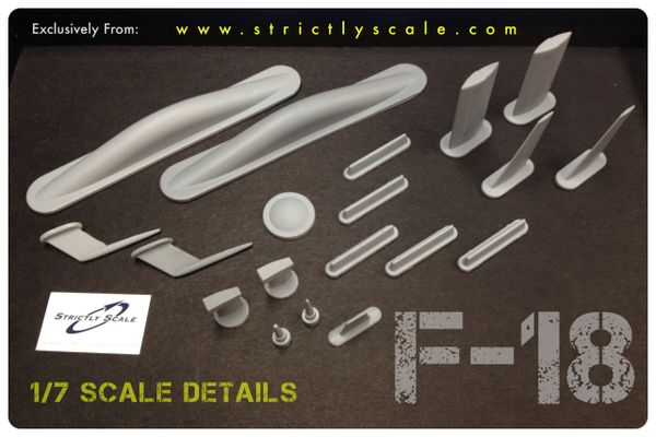 F-18 Scale Exterior Surface Details - 1/7 Scale