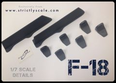 F-18 Scale LEX Fence / Fin Bracket combo - 1/7 Scale