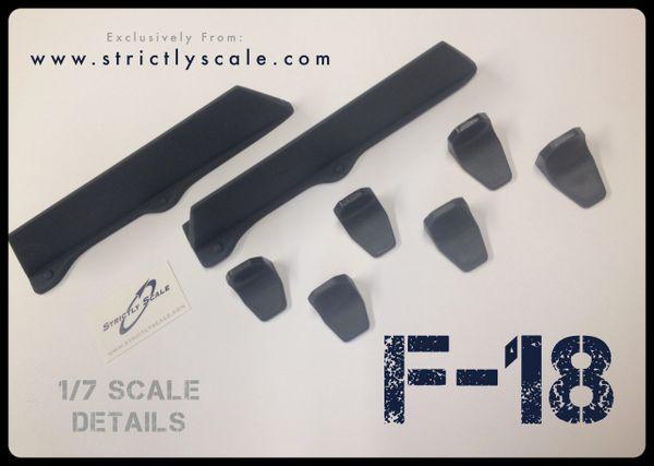 F-18 Scale LEX Fence / Fin Bracket combo - 1/7 Scale