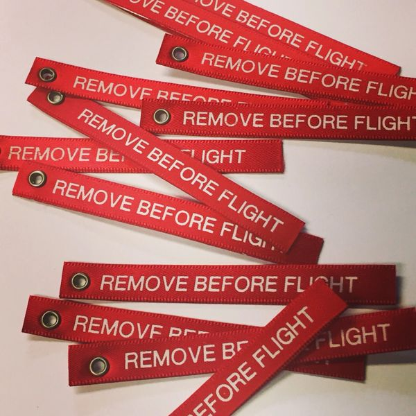 Scale REMOVE BEFORE FLIGHT tags - Qty 5 or 10