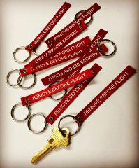 REMOVE BEFORE FLIGHT key tag