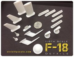 F-18 Scale Detail Parts Set - 1/5, 1/5.5, or 1/6 Scale