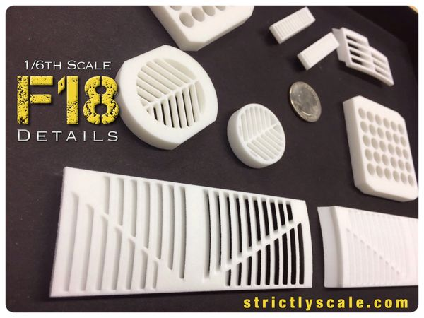 F-18 Integrated Scale Detail Parts Set - 1/6 Scale