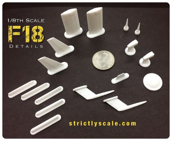 F-18 Scale Detail Parts Set - 1/8 Scale