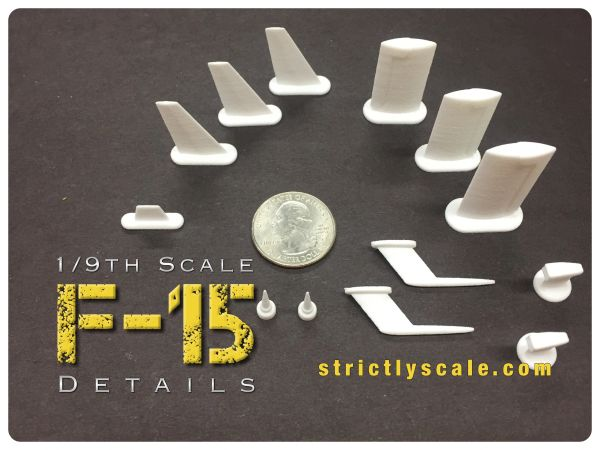 F-15 Scale Detail Parts Set - 1/9 Scale