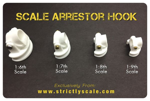 Arrestor Hook Parts - 1/8 Scale