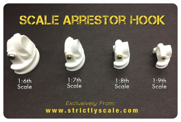 Arrestor Hook Parts - 1/9 Scale