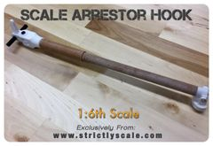 Full length Arrestor Hook - 1/6 Scale
