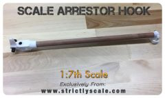 Full length Arrestor Hook - 1/7 Scale