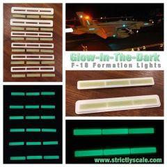 F-18 Hornet Glow-in-the-dark Formation lights 1/8 Scale