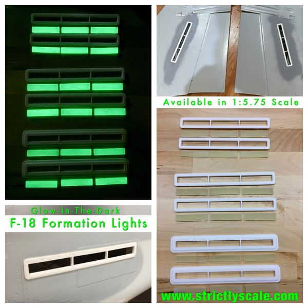 F-18 Hornet Glow-in-the-dark Formation lights 1/6 Scale
