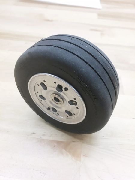 Scale F-18 Main Wheel - 1/7 Scale (Yellow Aircraft Twin)