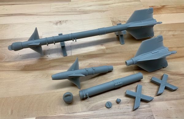 AIM-9 Sidewinder kit - 1/9 scale (pair)