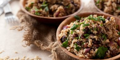 Parsley, brown rice, beans, spanish recipe, fiber, heart health, colon health, digestion, organic