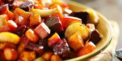 beets, onion, garlic , sweet potato, turnips, potato, oven roasted, side dish, winter vegetables