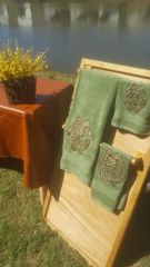 Olive Gye Nyame Three piece Towel Set
