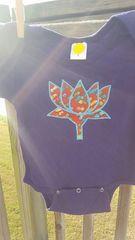 Purple Baby Onesie with Mosaic Lotus