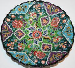 """7"""" (18cm) Turkish Handmade Iznik Raised Floral Pattern Plate"""