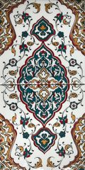 "8""x16"" Turkish Iznik Floral Pattern Ceramic Tile Set"