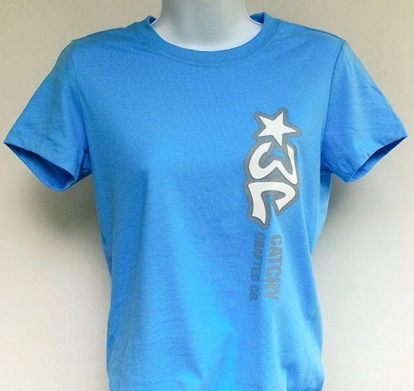 Women's Pale Blue 3C Logo Tee