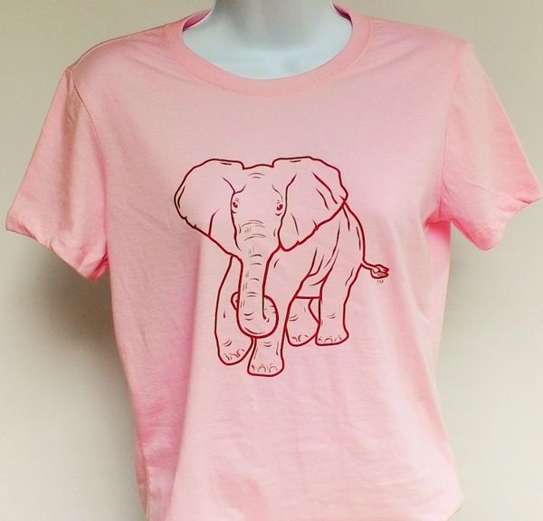 Women's Pink Elephant Tee