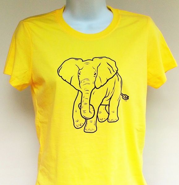 Women's Yellow Elephant Tee