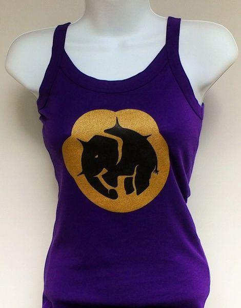 Women's Purple Paw Print Tank Top
