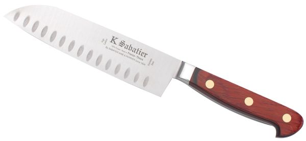"AUVERGNE: Santoku 7"" with Air Pockets [Auvergne]"