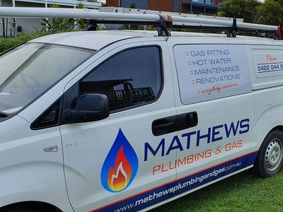 Mathews plumbing and gas van