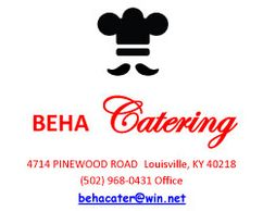 Beha Catering is a THIRD-generation company, offering full service catering, bartending service, as