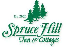 Spruce Hill Inn & Cottages, majestically set atop a wooded hill, combines Country charm with Victori