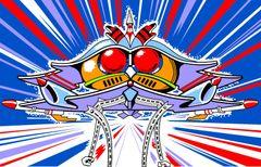 Galaga Front Kickplate Art