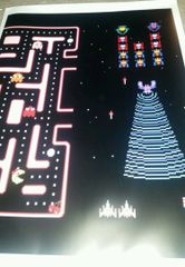 25th Anniversary Ms Pac Man / Galaga Kickplate Art