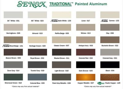 Color Charts Spade Roofing