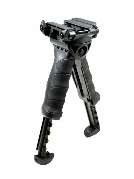 AR15 Foregrip / Bipod Grip, Adjustable Height, Polymer - Black (GPBP01)