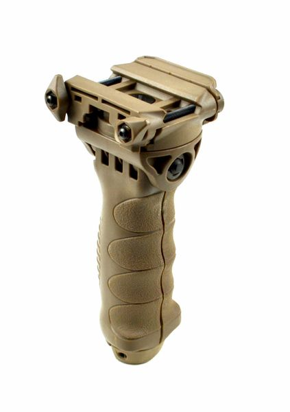 AR15 Foregrip / Bipod Grip, Adjustable Height, Polymer - Tan (GPBP01-T)