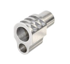 """Muzzle Brake for 1911 5"""" Government Barrels & Exact variants. Replaces barrel bushing. Silver color."""