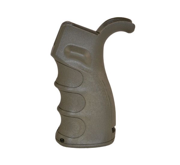 AR15 Rear Grip, Beavertail, Fixed Polymer - Brown/Green (GP20-D)