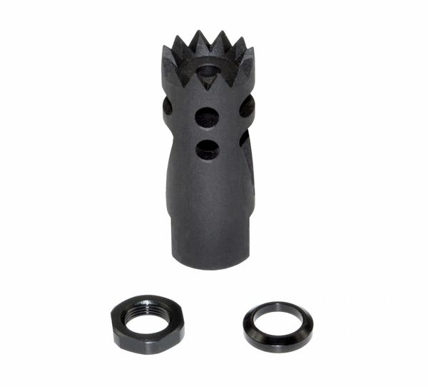"1/2""x28 Muzzle Brake for AR-15, Steel, Black"