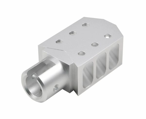 Muzzle Brake for Ruger 10/22. Silver