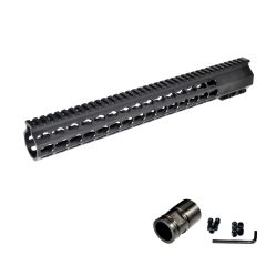 "15"" Presma .223 Free Float Handguard with KeyMod, Steel Barrel Nut"